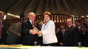José Wellington e Dilma Roussef